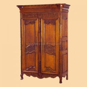 Antique Carved Armoire 001