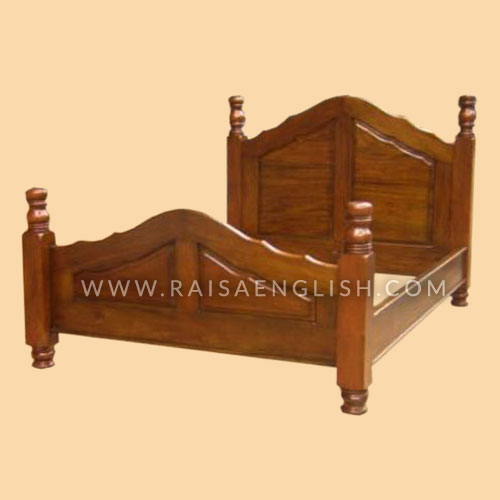 RBD 001 K - Antique Mahogany Vines Bed King