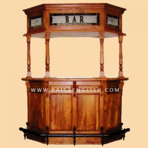 RABR 002 - Antique Corner Bar Cabinet