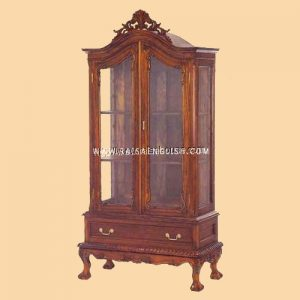 RACB 003 - Antique Chippendale Glass Cabinet 2 Door