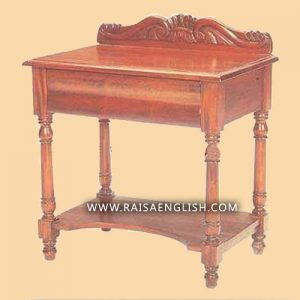 RAOT 001 - Traditional Classic Bow Front Bed Side Table