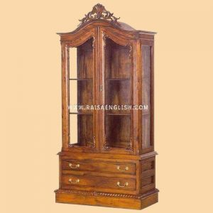 RACB 004 - Classic Chippendale Glass Cabinet B Jepara