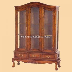 RACB 005 - Chippendale Glass Cabinet 3 Door