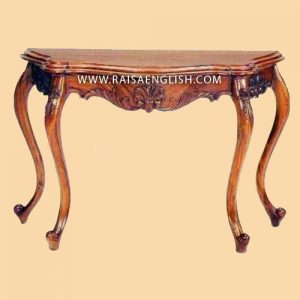 RACS 002 - Antique Mahogany Serpentine Hall Table