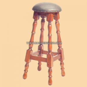 RAST 002 - Antique Mahogany Colonial Barstool