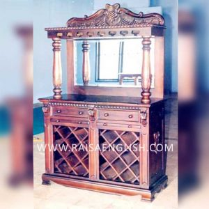 ICB 115 C - Wine Bar Lattice A Cabinet