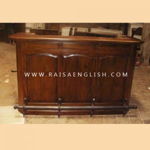 RABR 001 BS BF - Straight Bar Cabinet Base only w/ Brass Footrail