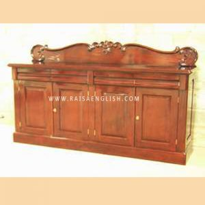 RABF 009 4 - Chiffonier 4 Doors With Carved Pediment