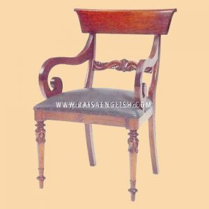 RACR 012 A - Chair Regency Scroll Carver