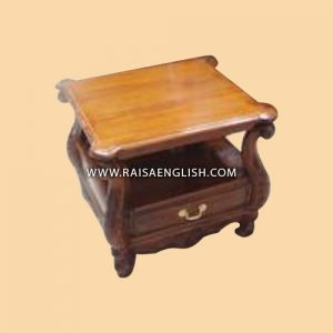 RACT 012 WD - 1 Drawer Coffee Table w/ Solid Top