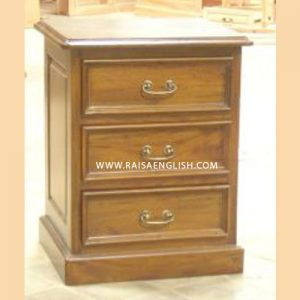 RABS 020 - Colonial Vines Bedside 3 Drawers