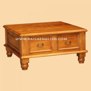 RACT 015 - Colonial End Coffee Table 2 Drawers