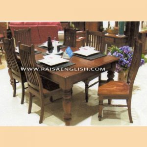 RADT 013 6 - Square Dining Table with Detachable Turned Legs For
