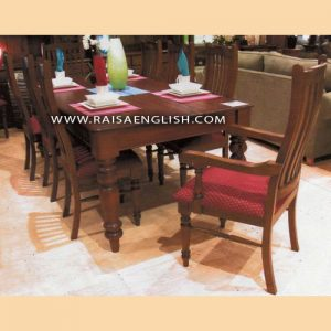 RADT 013 8 - Square Dining Table with Detachable Turned Legs For