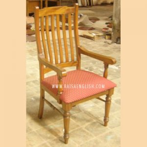 RACR 018 A U - Colonial Slate Curved Back Armchair w/ Uph on Seat