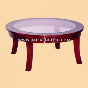 RACT 023 GS - Round Coffee Table with Glass Top