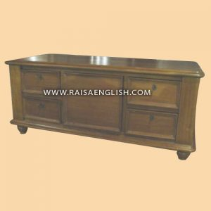 RACT 025 - Colonial Coffee Table 5 Drawers