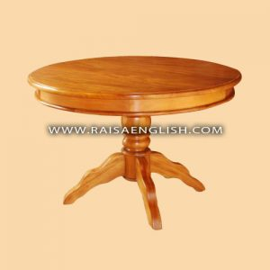RADT 017 - Round Dining Table with Single Plain Pedestal