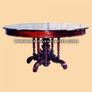 RADT 018 - Round Dining Table with Carved Pedestal